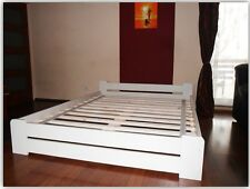 Modernes Einzelbett Kiefer weiß 90x20 weiß Massivholz weiss jungenbett Futonbett