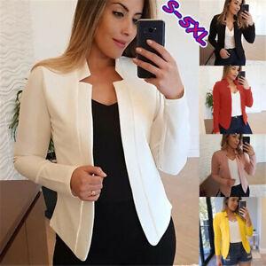 Women-Elegant-Business-Career-Blazer-Suit-Jacket-Coat-Outwear-Tops-Overcoat-CE