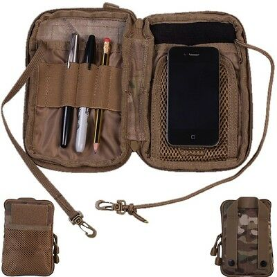 POCKET ORGANIZER POUCH WATERPROOF NOTEBOOK HOLDER MTP WALLET CAMPING HIKING