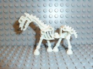 Lego 20x weißes Skelettpferd Minifigur weiss White Horse Skeletal Neu New