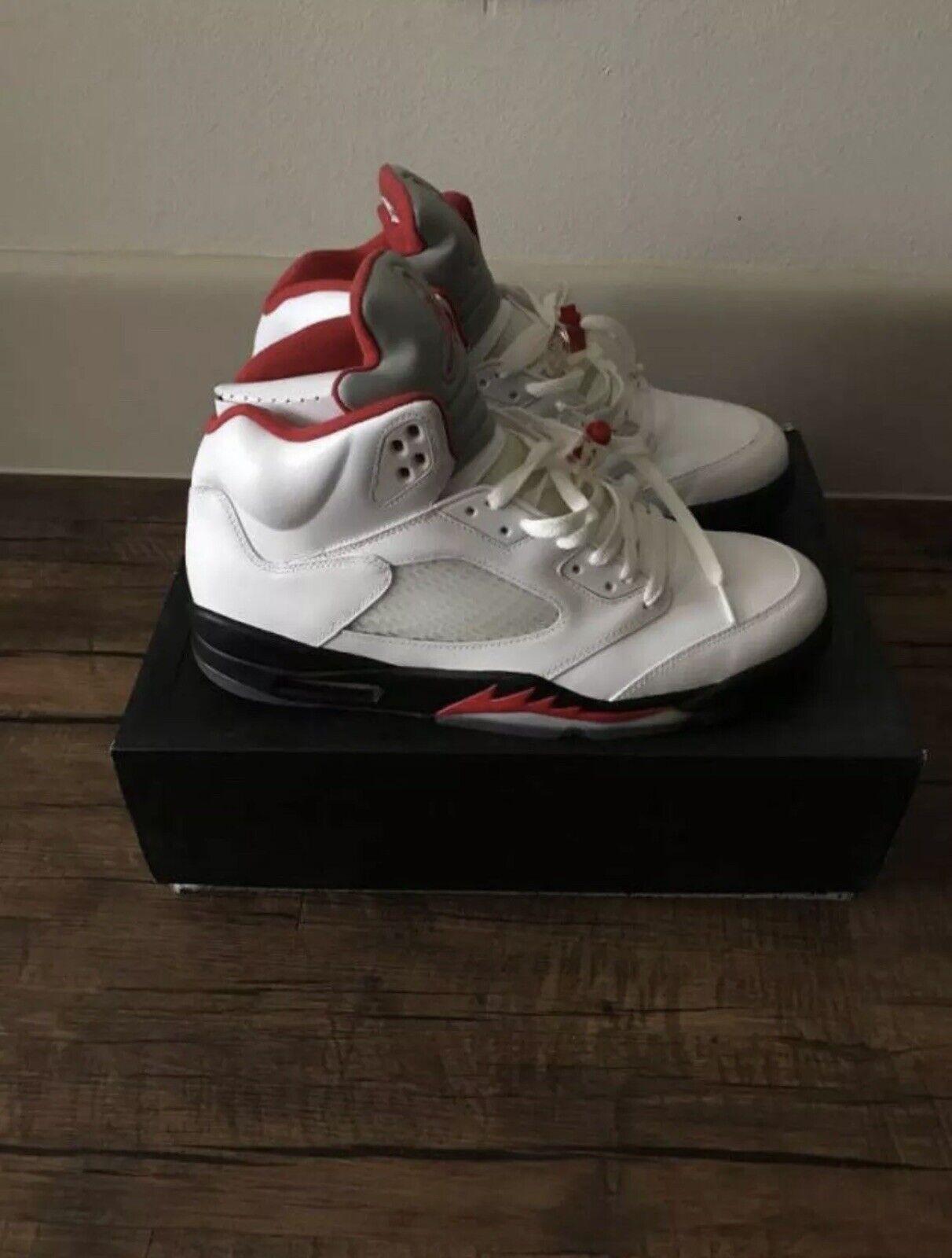 Jordan Retro 5 Fire Red Size 13
