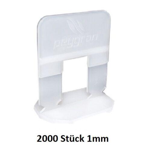 niveliersystem peygran Routage Aide Zuglaschen 1 mm Blanc 2000 Pcs