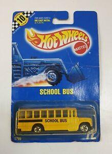 HOT-WHEELS-1795-Scuola-Bus-Vintage-1990-Modello-in-Confezione