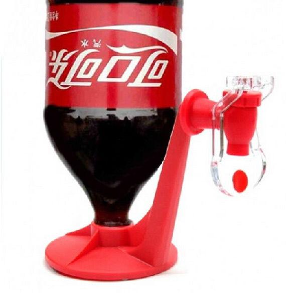 Party Bottle Drinking Water Soda Dispense Gadget Fridge Fizz Saver Dispenser Red