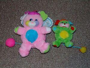 Damaged-1986-Mattel-Popples-Cribsy-amp-Putter-Popple-Plush-Doll-Lot