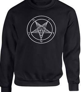 Satan Sudadera Anti Ocultismo Diablo Bruja Cristo Gótico Baphomet FxwI75dqx