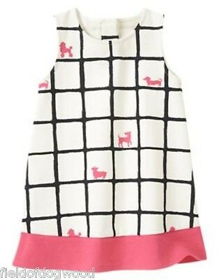 NWT Gymboree PRETTY POODLE Pink Tiered Jumper Dress 3-6