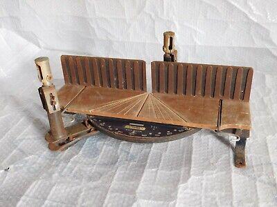 vintage old school Stanley miter box saw carpentry wood ...