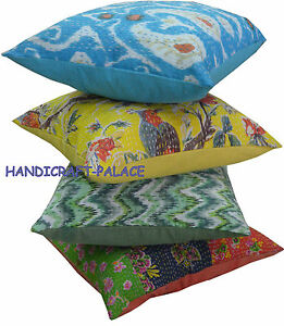 Wholesale-Lot-10pc-Kantha-Cushion-Cover-Cotton-Pillow-Covers-Handmade-India