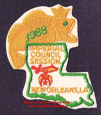 LMH PATCH Badge  1981 SHRINE TEMPLE  Shriners IMPERIAL COUNCIL  New Orleans LA