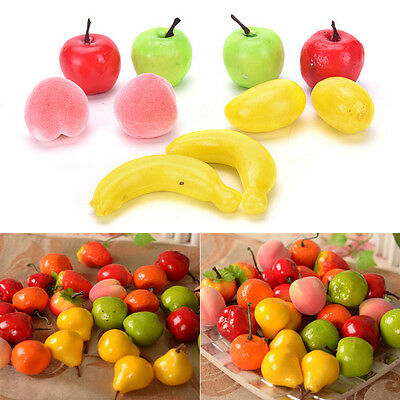 10PCS Artificial Decorative Plastic Fruit Home Decor Garden House Kitchen