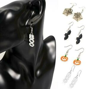 Halloween-Party-Pumpkin-Spider-Ear-Stud-Dangle-Hoop-Drop-Earrings-Jewelry-D-Top