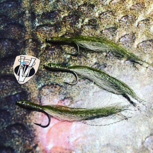 3 V Fly Taglia 2 Alphonse in rattan in SUPER RESINA EPOSSIDICA mangianza Predator Saltwater MOSCHE