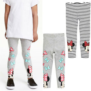 0c66473f Kids Toddler Girl Baby Leggings Minnie Mouse Cotton Pants Trousers ...
