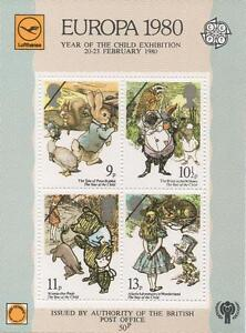 1980-EUROPA-CEPT-OVERPRINT-MINIATURE-SHEET-YEAR-OF-CHILD-EXHIBITION-MNH-STAMPS