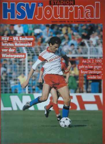 VfL Bochum Programm 1989//90 HSV Hamburger SV