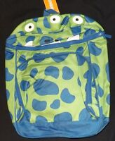 Boys Gymboree Full Size 3 Eyed Green & Blue Monster Backpack