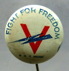 Details about FIGHT FOR FREEDOM V for Victory MORSE CODE 7/8