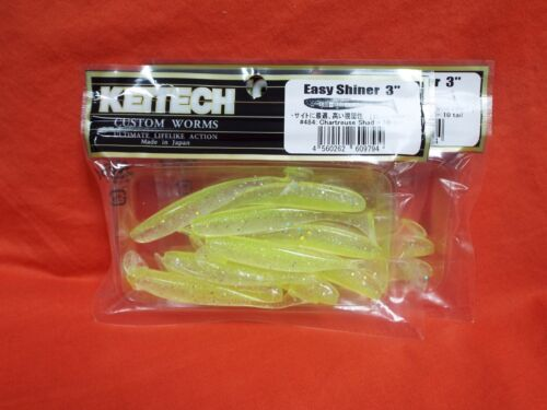 "10ea//20ttl 2pks KEITECH Easy Shiner 3/"" Swimbait #484 Chartreuse Shad"