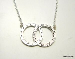 730734cc8fa73 Details about BOXNEW! AUTHENTIC PANDORA CIRCLES NECKLACE #396235CZ-45  17.7IN HINGED BOX