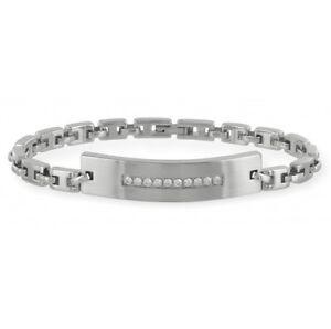 Armband-Edelstahl-teilmattiert-mit-10-Zirkonia-Laenge-19cm