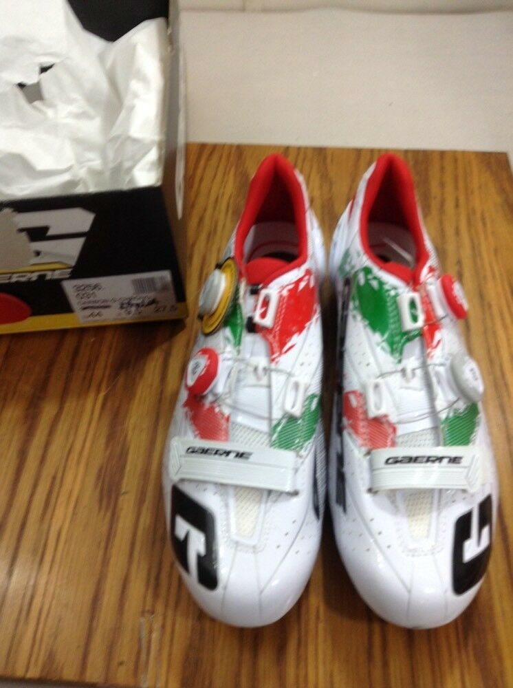 Gaerne Italia Carbon Chrono Road shoes Size 44 Euro 9.5 Us (5715 -3)