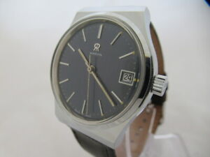 NOS-NEW-SWISS-VINTAGE-MECHANICAL-HAND-WINDING-MEN-039-S-MARVIN-ANALOG-WATCH-DATE