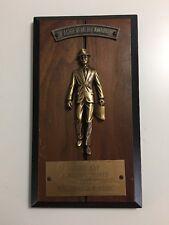 Vtg Metal Trophy Wall Plaque 1 Million Shipped 1985 Salesman Achievement Award