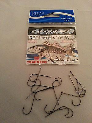 Akura 145BN Hooks 15//pack,Trabucco