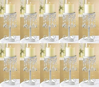 Auction for LORENLORENLOREN 12 Ivory Beaded Elegant CANDLE HOLDER NEW