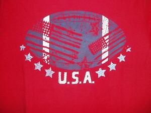 Navy /& White Graphic Shirts Size S Patriotic Youth Boys SET//3 Red 6//7