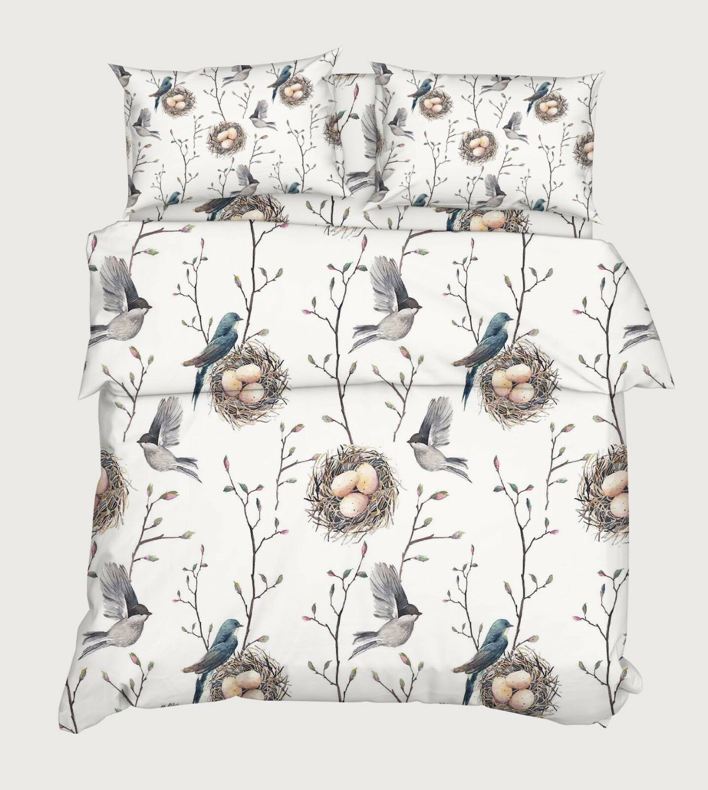 3d Bird Nest 847 Bed Cushion Covers Stitch Duvet Cover Set Single de Kyra
