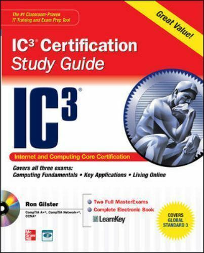 IC3 Certification By Gilster, Ron