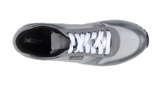 JUST CAVALLI   Herren,Men,Schuhe,Shoes,Sneaker,NEU,Silber,Aktuelle Kollektion,%%