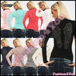 Womens-Jumper-Sexy-Casual-Angel-Wings-Ladies-Pullover-ONE-SIZE-8-10-12-UK