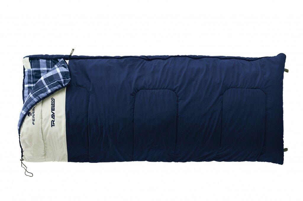 FERRINO Sleeping Bag Rectangular Travel 200x90cm blueE CAMPING TENTS CARAVAN