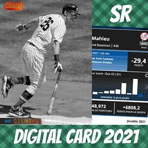 Topps Bunt 21 DJ Lemahieu Stadium Club Orange Base S/2 2021 Digital Card