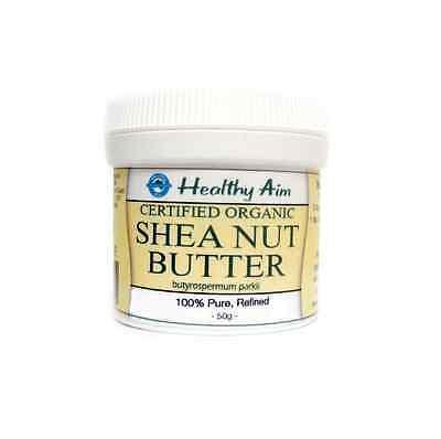 Certified Organic SHEA NUT BUTTER 100% Pure Soap Making Cream 50g