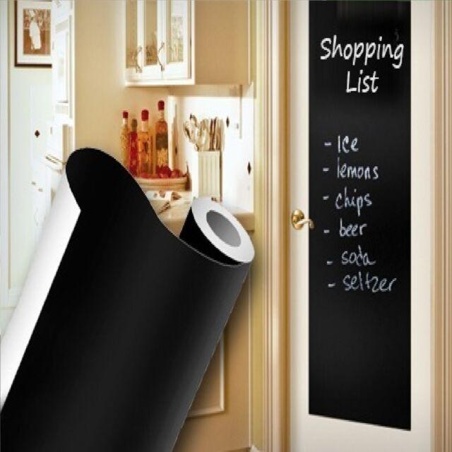 Blackboard Removable wall paper Vinyl Sticker chalkboard Decal Peel & Stick on