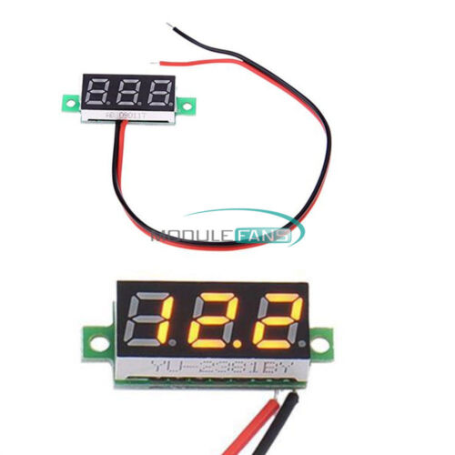 """0.28/"""" Digital Voltmeter Panel 2//3 Wire Voltage Mount LED Voltmeter Display"""