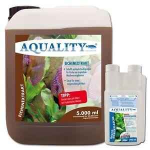 4 60 l aquality eichenextrakt 5 liter ph minus senkt den ph wert im aquarium ebay. Black Bedroom Furniture Sets. Home Design Ideas