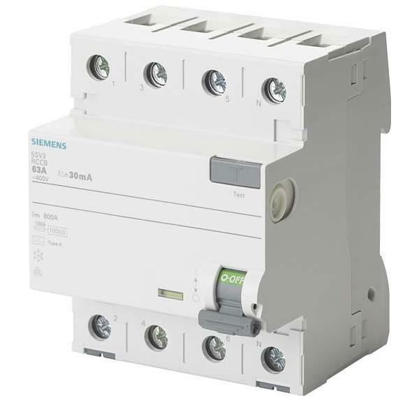 Siemens FI-Schutzschalter, 4-polig 5SV3444-8 IP20 5SV34448 FI-Schutzschalter, FI-Schutzschalter, FI-Schutzschalter,   Qualitätskönigin  45371f