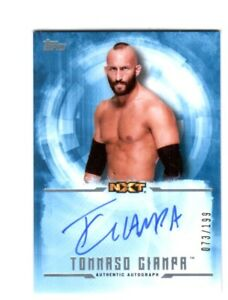 WWE-Tommaso-Ciampa-2017-Topps-Undisputed-Blue-On-Card-Autograph-SN-73-of-199