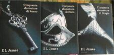 Trilogia Cinquanta sfumature  Grigio - Rosso - Nero  - E.L. James, 2012