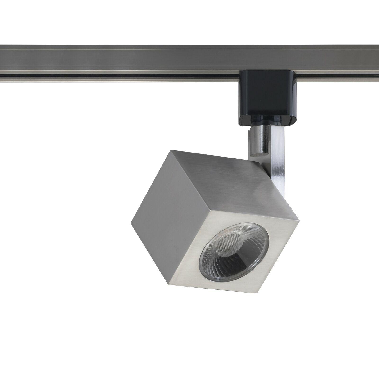 12W 1 Luz LED cuadrado de cabeza de pista de níquel cepillado haz de 24 grados.