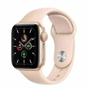NEUF-Apple-Watch-SE-GPS-40mm-Gold-Aluminum-with-Sport-Band-MYDN2