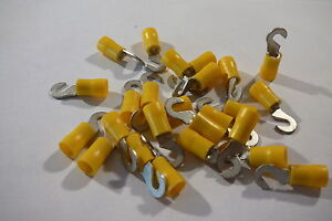 25-pack-of-yellow-3-7mm-hook-terminal-crimp-for-3-5mm-bolt-screw