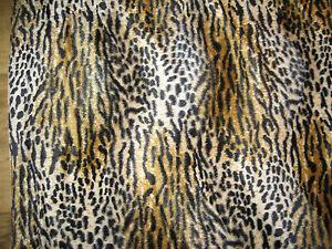 Animal Print Upholstery Velvet Cheetah Fur Fabric