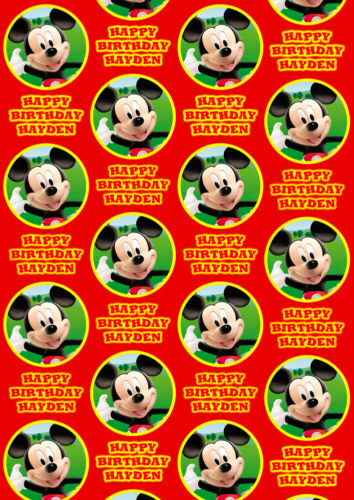 MICKEY MOUSE CLUBHOUSE Personalised Gift Wrap Disney/'s Mickey Wrapping Paper
