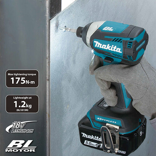 Makita DTD154Z 18V Li-ion Brushless Impact Driver Body With 1 x 5.0Ah Battery